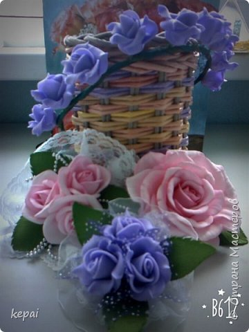 Заколка, роза из фоамирана. фото 7