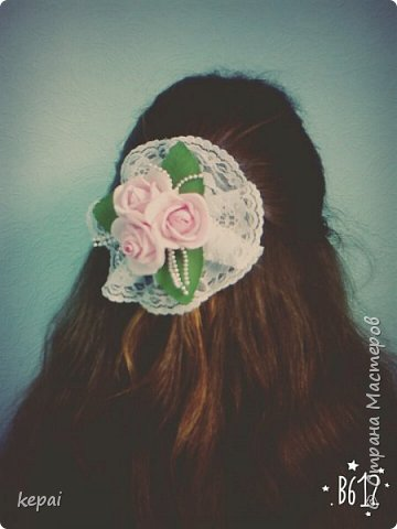 Заколка, роза из фоамирана. фото 6