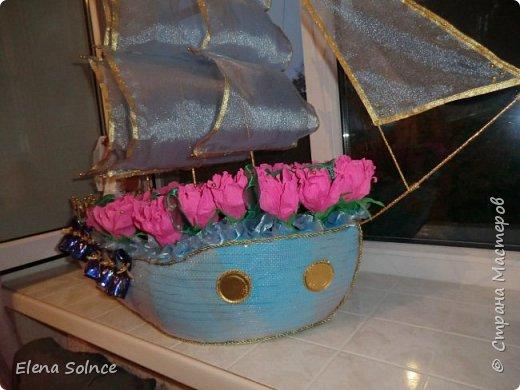 Одна из первых работ. Корабль свадебный для лучшей подруги. Всем очень понравился. фото 2