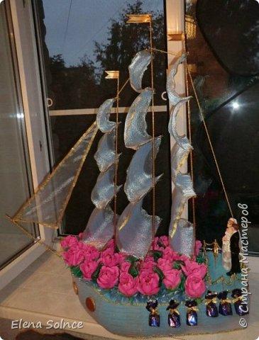Одна из первых работ. Корабль свадебный для лучшей подруги. Всем очень понравился. фото 1