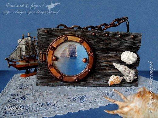 Всем корабельный гудок... привет! Покажу вам очередную нашу рамочку для фото. Вообще рамочки я не люблю... Но вот вот морскую рамку для фото  Игорь с удовольствием сделал.
