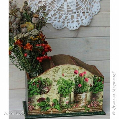 """Короб для столовых приборов """"Травы"""" фото 1"""
