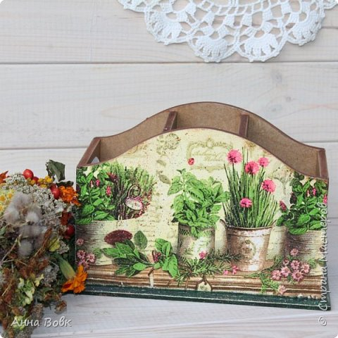 """Короб для столовых приборов """"Травы"""" фото 2"""