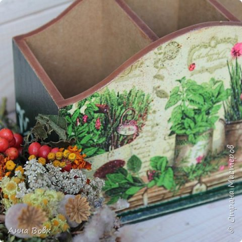 """Короб для столовых приборов """"Травы"""" фото 4"""