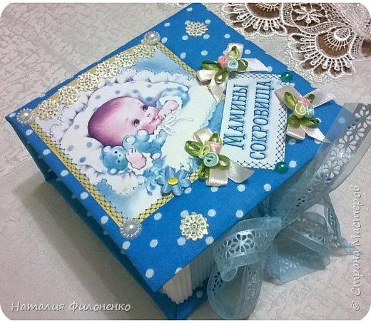 Вот такую коробочку сделала племяннице на рождение сыночка. Фото с телефона не передает сочность красок, но мне хотелось поделиться с вами своим изделием. фото 7