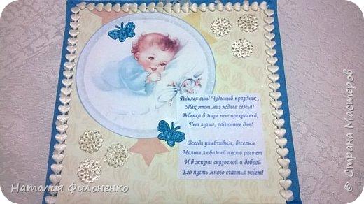 Вот такую коробочку сделала племяннице на рождение сыночка. Фото с телефона не передает сочность красок, но мне хотелось поделиться с вами своим изделием. фото 4
