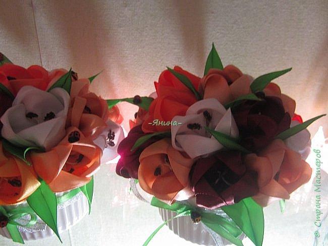 """Доброго дня!Эти букетики в подарок для моих очень хороших знакомых женщин..На первом снимке ещё нет """"тычиночек""""..так что не обессудьте,букеты в процессе....)) фото 2"""