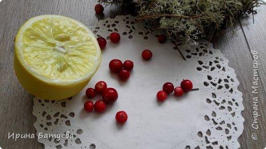 Здравствуйте, дорогие мастера и мастерицы! Насмотревшись на лимончик Инны Голубевой, я решила попробовать сделать этот цитрус. У меня он выполнен в другом разрезе. Постараюсь выложить МК на него, в процессе изготовления не избежала ошибок, о которых расскажу обязательно! Как не надо делать... ))))). Ну а если вкратце внутри лимона - фольга ( это очень экономит глину и облегчает вес готового изделия), сверху тонкий слой эпоксидной смолы. Полимерная глина использована тайская Modern clay (синяя этикетка), то есть самый обычный ХФ. Косточки тоже из нее. фото 2