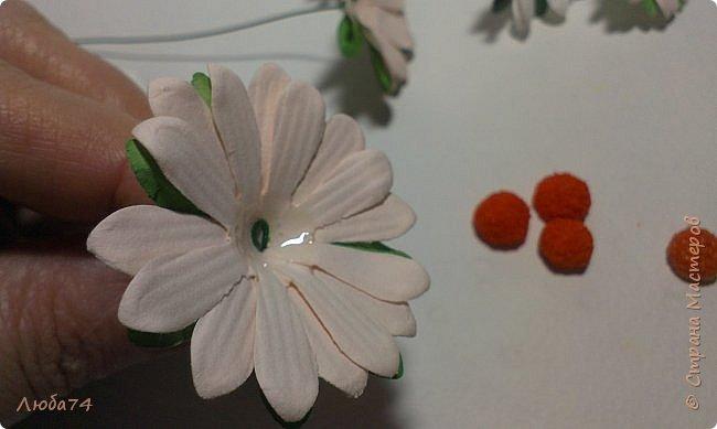 """Здравствуйте жители Страны Мастеров! Сегодня хочу показать вам МК по красивым летним цветам """"Ромашки"""".   фото 72"""