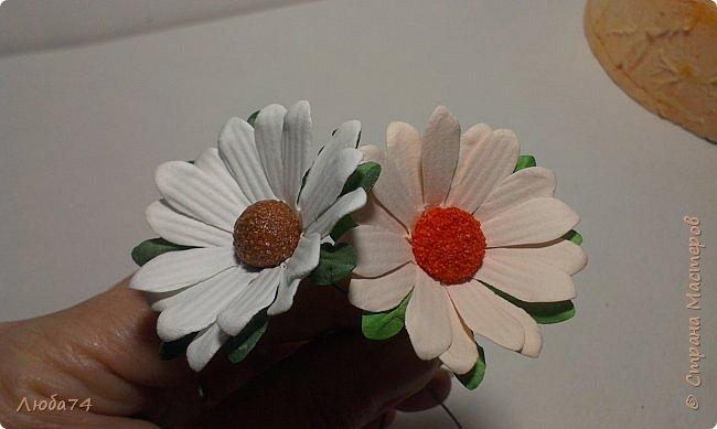 """Здравствуйте жители Страны Мастеров! Сегодня хочу показать вам МК по красивым летним цветам """"Ромашки"""".   фото 74"""