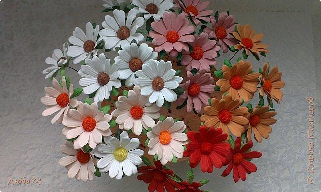 """Здравствуйте жители Страны Мастеров! Сегодня хочу показать вам МК по красивым летним цветам """"Ромашки"""".   фото 1"""