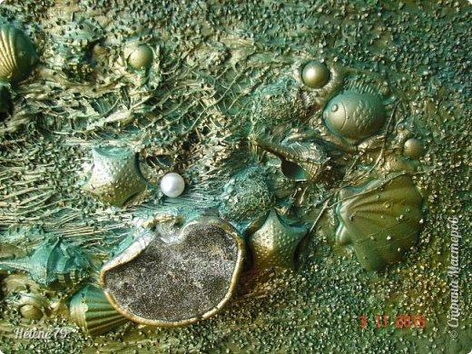 """Здравствуйте, дорогие соседи по Стране! Сегодня у меня изделия, сделанные  ещё  в прошлом  году и вновь- морские :)  Все выполнены в стиле """"терра"""".  Панно """"Глубь океана"""".   фото 6"""