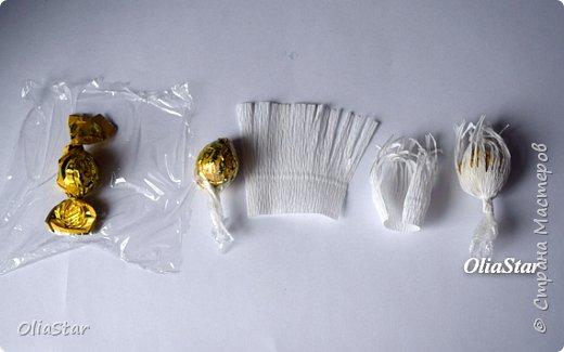 Здравствуйте дорогие жители страны Мастеров! Недавно, попробовала сделать ирисы из гофрированной бумаги. Сфотографировала этапы работы, может кому пригодится. фото 4