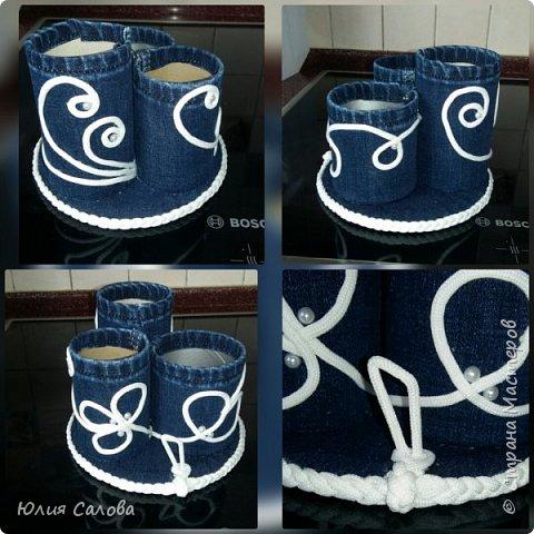 Из банок принглс, джинс и бельевой веревки фото 1
