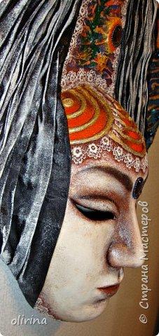 Добое время суток, мастера.Закончила ещё одну маску, теперь интерьерная (высота 56 см,ширина 56 см). фото 11