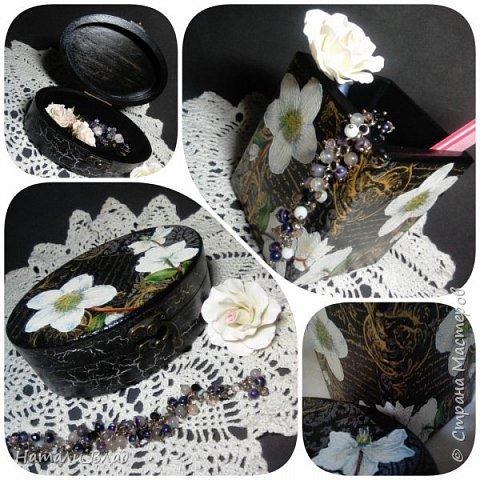 Набор :шкатулка для украшений и карандашница для дамских штучек. фото 1