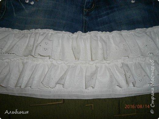 Юбка из старых джинсов. фото 2