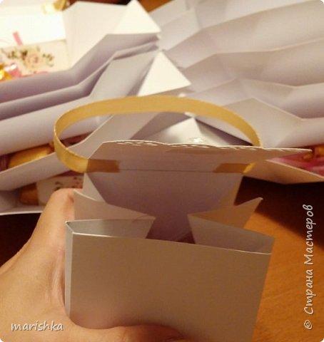 """Дорогие мастера и мастерицы,здравствуйте!Сегодня я к вам с отчётом о работе """"семейной фабрики"""" по изготовлению 150 сумочек бонбоньерок к свадьбе племяшки.Так как гостей было очень много,мы решили приготовить подарочки только для женской половины свадьбы... фото 15"""