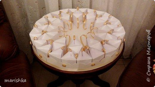 """Дорогие мастера и мастерицы,здравствуйте!Сегодня я к вам с отчётом о работе """"семейной фабрики"""" по изготовлению 150 сумочек бонбоньерок к свадьбе племяшки.Так как гостей было очень много,мы решили приготовить подарочки только для женской половины свадьбы... фото 19"""