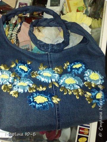 Сумка на лето из старых джинсов фото 3