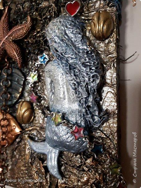 Панно, сделанное на заказ. Что-нибудь морское и чтоб была русалка. :) Ну вот оно на ваш суд. фото 6