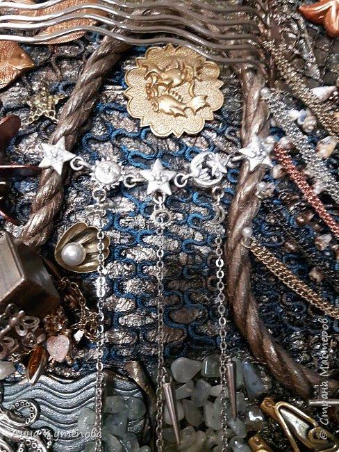 Панно, сделанное на заказ. Что-нибудь морское и чтоб была русалка. :) Ну вот оно на ваш суд. фото 10