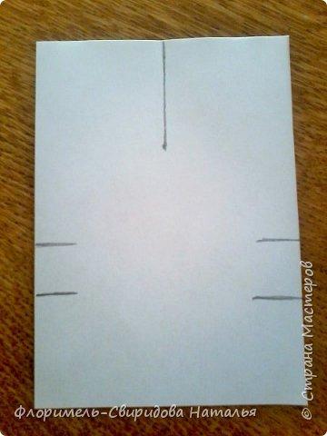 Эти 4 поделки выполняются по схожему принципу. Для работы нам понадобятся: - прямоугольные листы бумаги (размер значения не имеет, это может быть и альбомный лист, и тетрадный, и лист из блокнота); - простой карандаш для дорисовки поделки (глазки, носик, ротик и др. детали). Контур, нарисованный карандашом, впоследствии лучше обвести черным фломастером. Для раскрашивания  поделки можно использовать цветные карандаши, фломастеры, или восковые мелки.  Один из вариантов раскрашивания: мелкие детали раскрасить фломастером, а крупные -  карандашами или восковыми мелками.  фото 24
