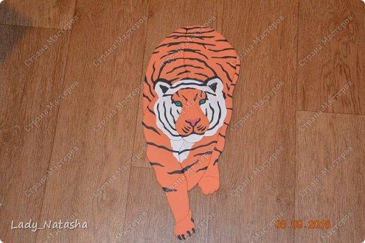 Тигр. Интарсия. фото 1