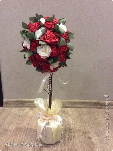 Решила попробовать свои силы в топиариях. Вдохновили работы i_melya, розы делала по мк http://www.liveinternet.ru/users/3660808/post231578640 фото 1
