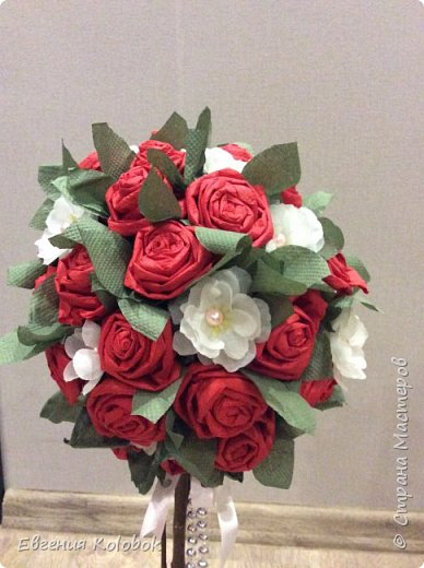Решила попробовать свои силы в топиариях. Вдохновили работы i_melya, розы делала по мк http://www.liveinternet.ru/users/3660808/post231578640 фото 2