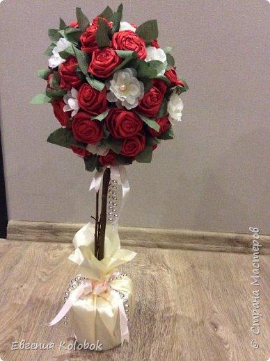 Решила попробовать свои силы в топиариях. Вдохновили работы i_melya, розы делала по мк http://www.liveinternet.ru/users/3660808/post231578640 фото 3
