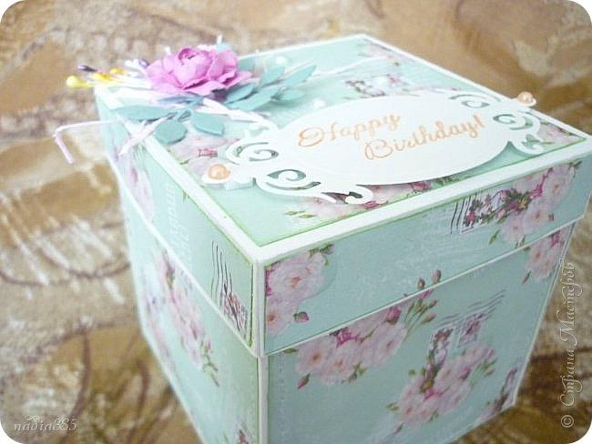 Здравствуй моя дорогая Страна!  Сегодня хочу показать тебе коробочку, но не простую, а волшебную!  Сделана она в подарок ко дню рождения.  Посмотрите какая она хорошенькая!!! фото 1