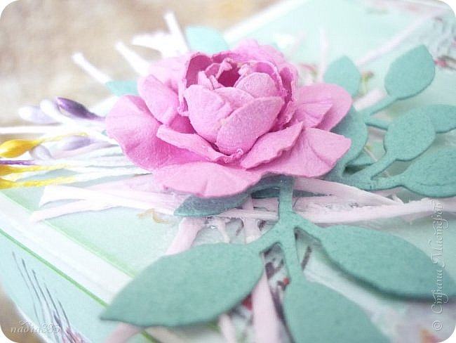 Здравствуй моя дорогая Страна!  Сегодня хочу показать тебе коробочку, но не простую, а волшебную!  Сделана она в подарок ко дню рождения.  Посмотрите какая она хорошенькая!!! фото 4