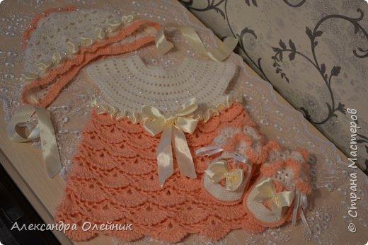 Здравствуйте уважаемые рукодельницы. Приближается долгожданный праздник день рождения моей доченьки ей исполняется 1 годик. Мне захотелось на такой особенный день сделать ей платье. И вот такая красота у меня получилась.  фото 3