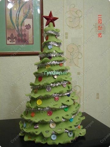 """Итак, фотоотчет за несколько лет. Посмотрим на ёлки. Здрямсти вам. На этой фотке елки, за которые я получила приз - карточку в Леонардо от газеты """"Ва-банкъ"""" в 2013 г. Наверное, это тильда-елки. фото 13"""