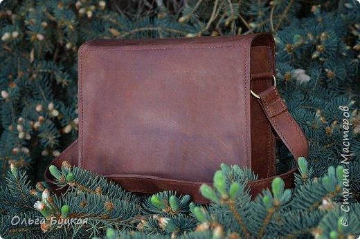 """Здравствуйте! Вот такую сумочку из натуральной кожи """"крейзи хорс"""" с накладкой из меди в технике  wire wrap я сделала. фото 3"""