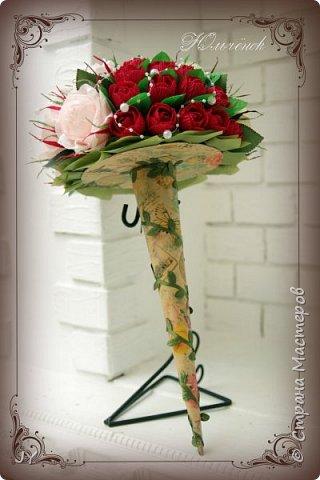 Первосентябрьские букетики! Вот такие разнообразные в этом году получились! Тут и ручной букет с розами... фото 2