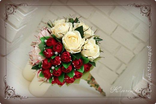Первосентябрьские букетики! Вот такие разнообразные в этом году получились! Тут и ручной букет с розами... фото 1