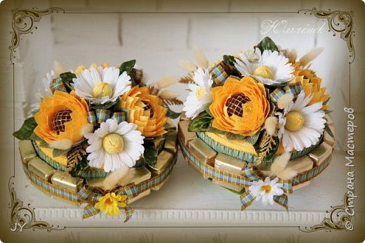 Первосентябрьские букетики! Вот такие разнообразные в этом году получились! Тут и ручной букет с розами... фото 6