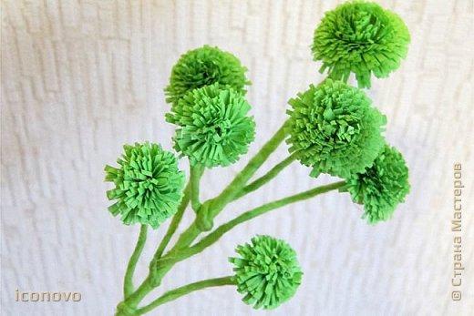 Т.к. в СМ много разных гербер, то остановлюсь на веточке хризантемы и листьях. фото 11
