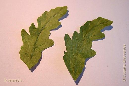 Т.к. в СМ много разных гербер, то остановлюсь на веточке хризантемы и листьях. фото 4