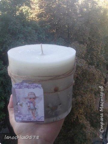 Вот моя свеча на заказ.Для подарка.:-) фото 3