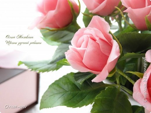 """Недолго я продержалась без лепки.. немного отдохнула и принялась за старое-цветочки лепить:))) """"Утро в Венеции"""" вот так романтично я решила назвать новую композицию.  фото 5"""