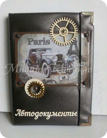 Обложки на паспорт и автодокументы_кожа и ткань. фото 8