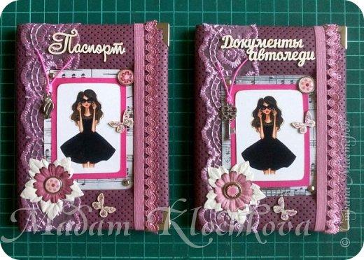 Обложки на паспорт и автодокументы_кожа и ткань. фото 3
