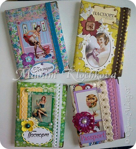 Обложки на паспорт и автодокументы_кожа и ткань. фото 1