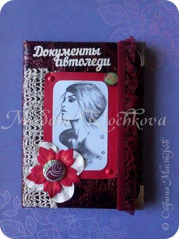 Обложки на паспорт и автодокументы_кожа и ткань. фото 10