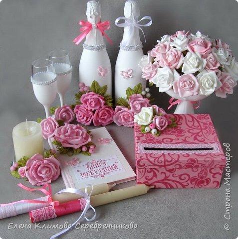 Бело-розовая свадьба фото 1