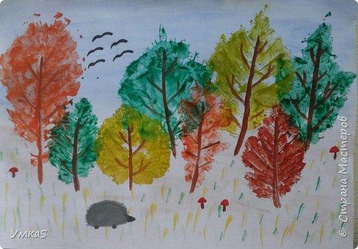 Цветной лес ( так назвал работу сын)