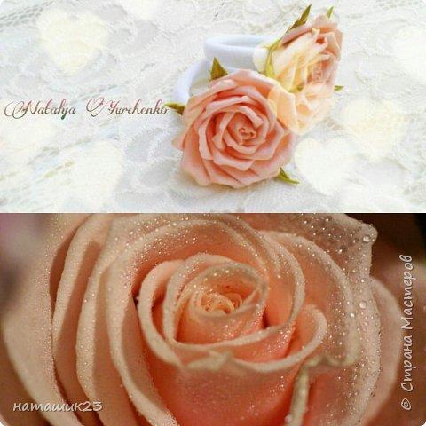 Роза Глория с листьями цинерарии, выкройки цинерарии с живых листочков(резинка) фото 8